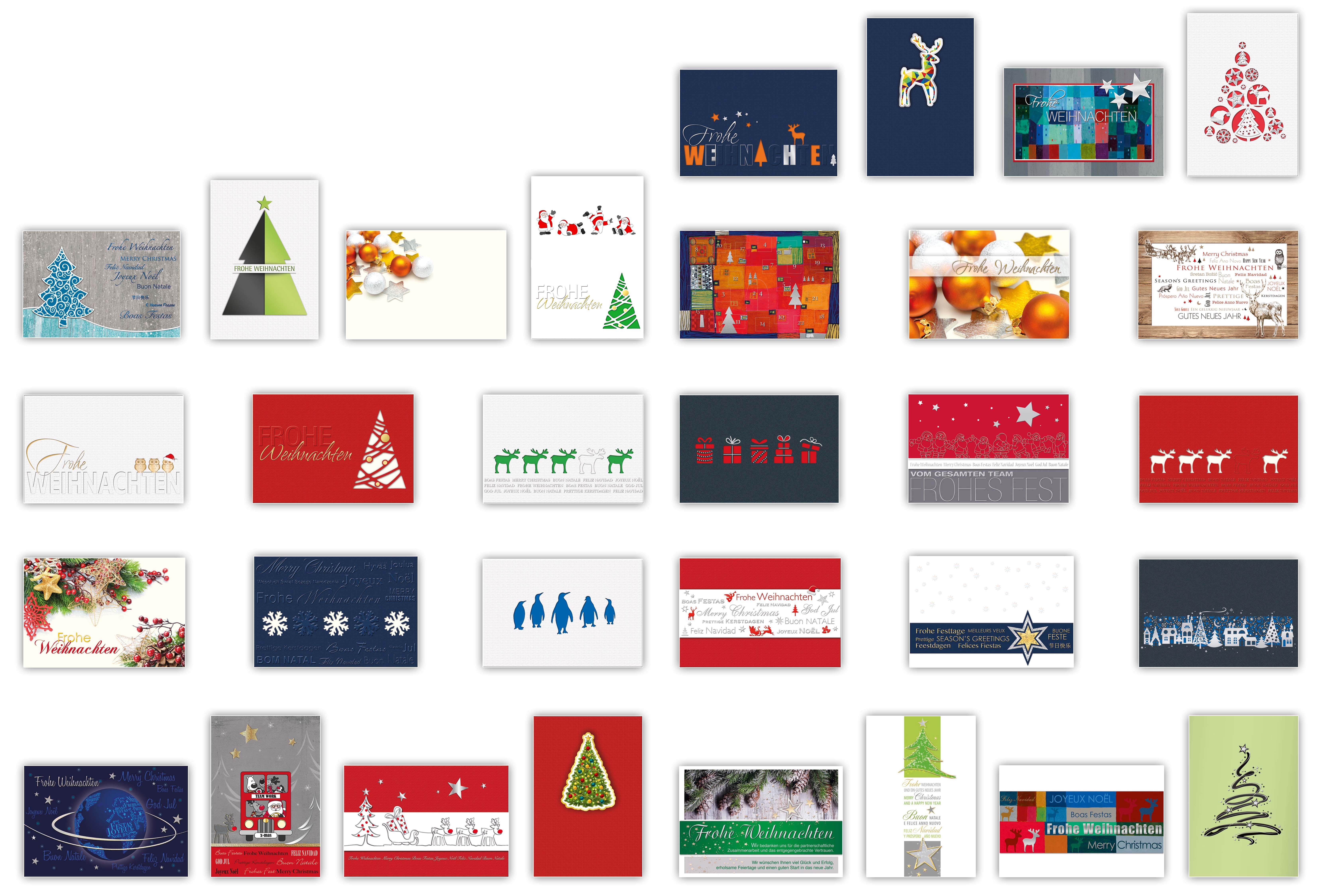Weihnachtskarten Auszug